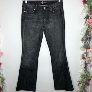 7 for all mankind dark gray boot cut jeans